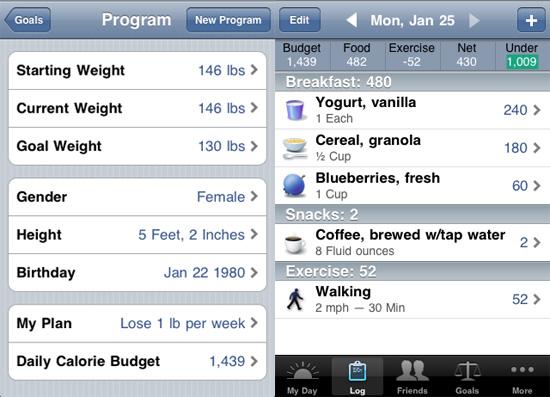 Cinco aplicaciones que te ayudarán a a bajar de peso