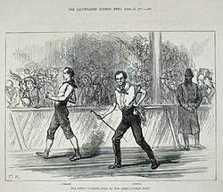 Weston vs Oleary seis días 1877
